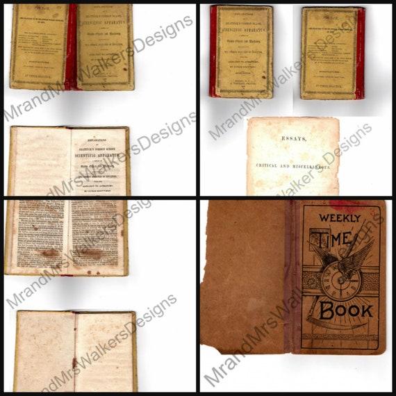 Printable Aged Paper Digital Journal Paper Vintage Books Printable Book Digital Vintage Collage Junk Journal Vintage Printable