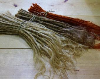 """Extralange, hochwertige Echthaar Dreadextensions 50cm 20"""" Dreads Dreadlocks Dreadverlängerungen real human hair-einzigartig Kreativ Dreads"""