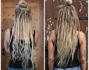 40 cm human hair dreads - high quality dreadextensions dreadlocks dread extensions - all colors!