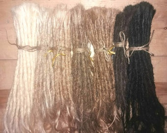 Extra-long, high-quality human hair Dreadextensions Dreads Dreadlocks Dread extensions real human hair - unique in Creative Dreads