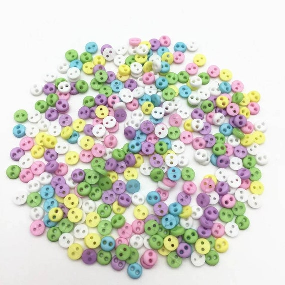 6mm Approx Craft Knitting Sewing 50 x Cream Plastic Buttons