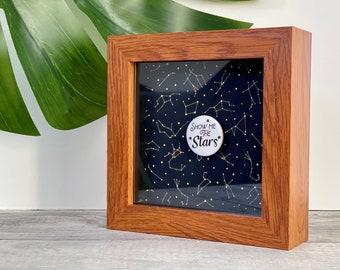 Show Me The Stars Love Token Frame. Valentine's Gift, Love, Birthday, Anniversary, Wedding, Personalised