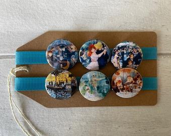Renoir Artist - Button Pin Badge Set