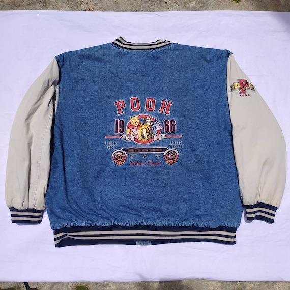 Vintage Varsity Disney Pooh embroidery