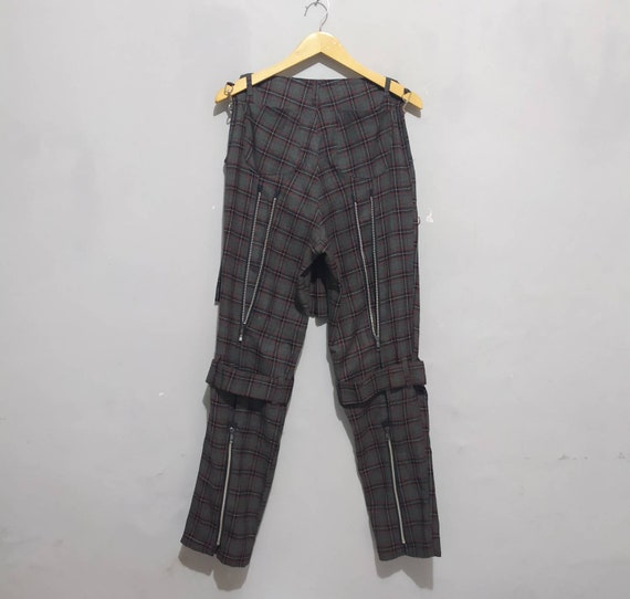 Seditionaries bondage punk Tartan Plaid pants