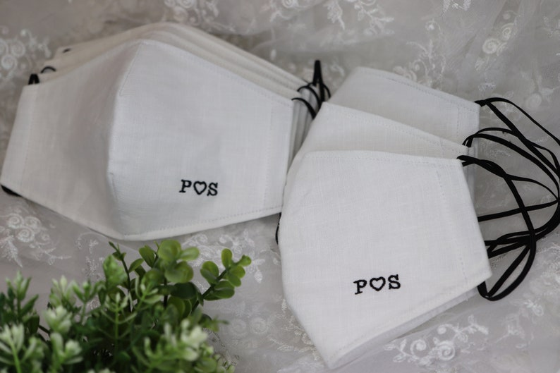 Bulk 10-200 Wedding guests cotton face mask with filterguest image 0