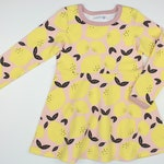 """Lemon dress """"Madita"""", French Terry dress in old pink and sunny lemons, dress in summer sweat"""