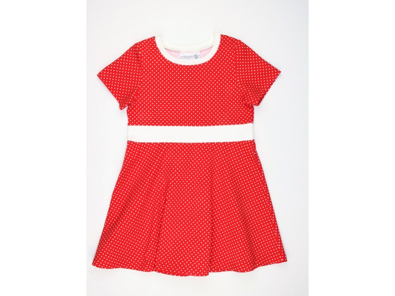 Strawberry Dress Smilla Dress red with white image 0