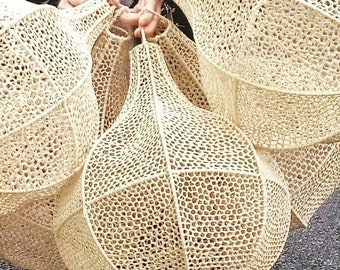 Raffia pendant lamp, Moroccan handicrafts, lighting, wall lamp, straw pendant lamp,ume pendant lamp