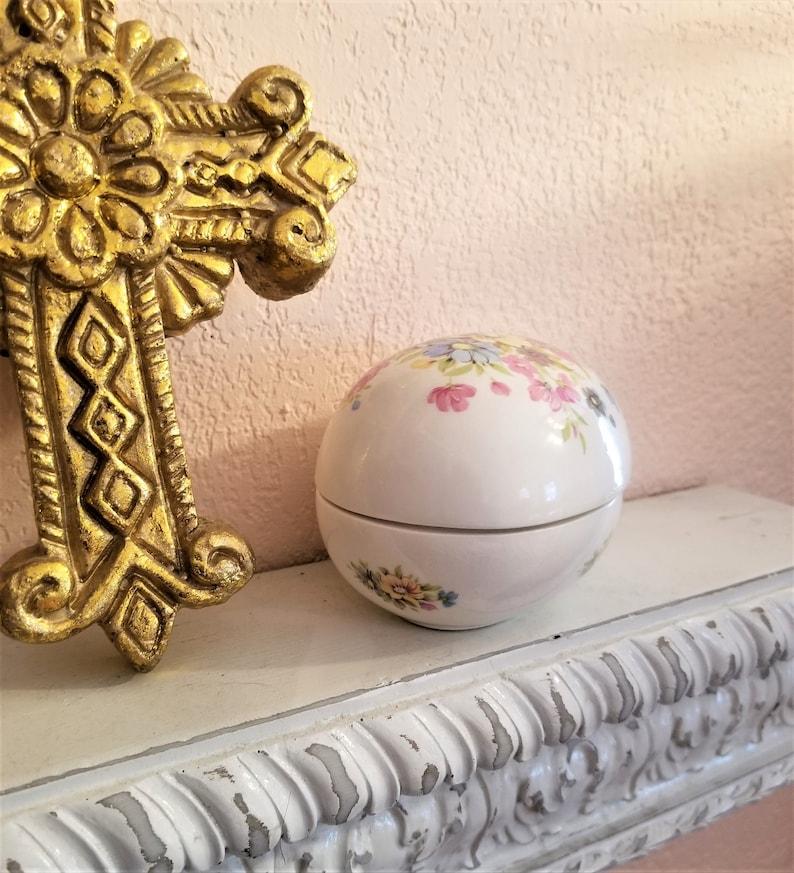 Jubilee China Trinket Box Egg Handpainted
