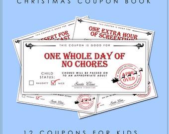 Kids Coupon Book Fun Gift Kids Christmas   Voucher Stocking Stuffer Reward Gifts for Children Love Coupon Ticket Holiday Birthday Quarantine