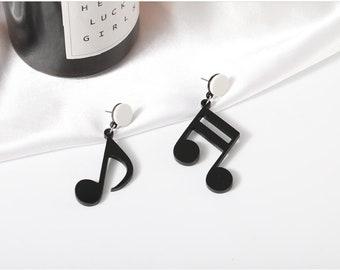 MUSIC EARRINGS *SET OF 2* MUSICIAN MUSICAL NOTES SILVER UK