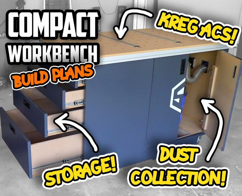 Compact Dust Collection Workbench Woodworking Plans  Digital image 0