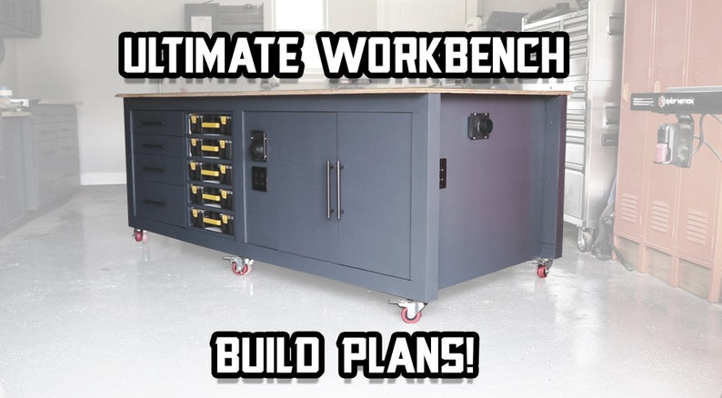 Ultimate Workbench Woodworking Plans  Instant Download image 0