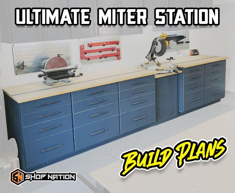 Ultimate Miter Station Woodworking Plans  Instant Download image 0