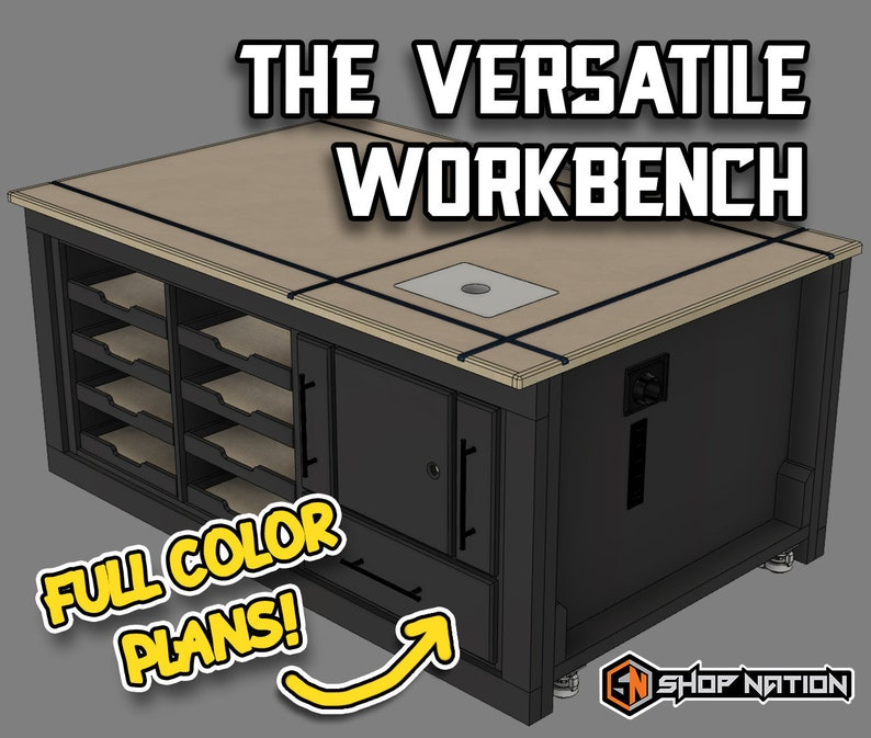The Versatile Garage Shop Workbench  Digital Plans image 0