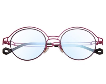 aef5588ee57c5 Personalized Round Frame Eyeglasses Double-rimmed Glasses Designer Optical  Eyeglasses