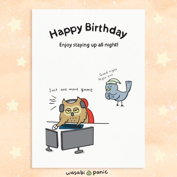 Phenomenal Cute Happy Birthday Card Happy Birthday Gamer Gamer Etsy Funny Birthday Cards Online Overcheapnameinfo