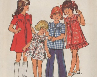 Style 2234 Sewing Pattern, Child's Dress or Top and Pants, Size 2, Cut, Complete