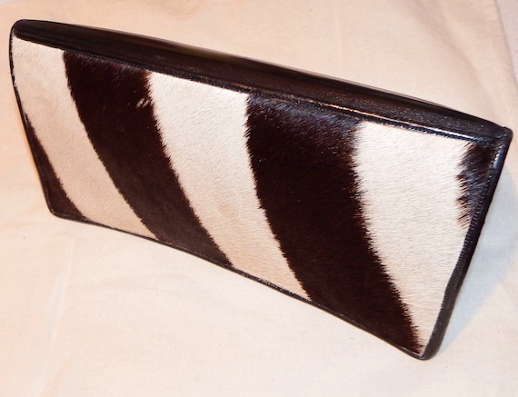 ZEBRA CLUTCH, genuine Zebra & leather