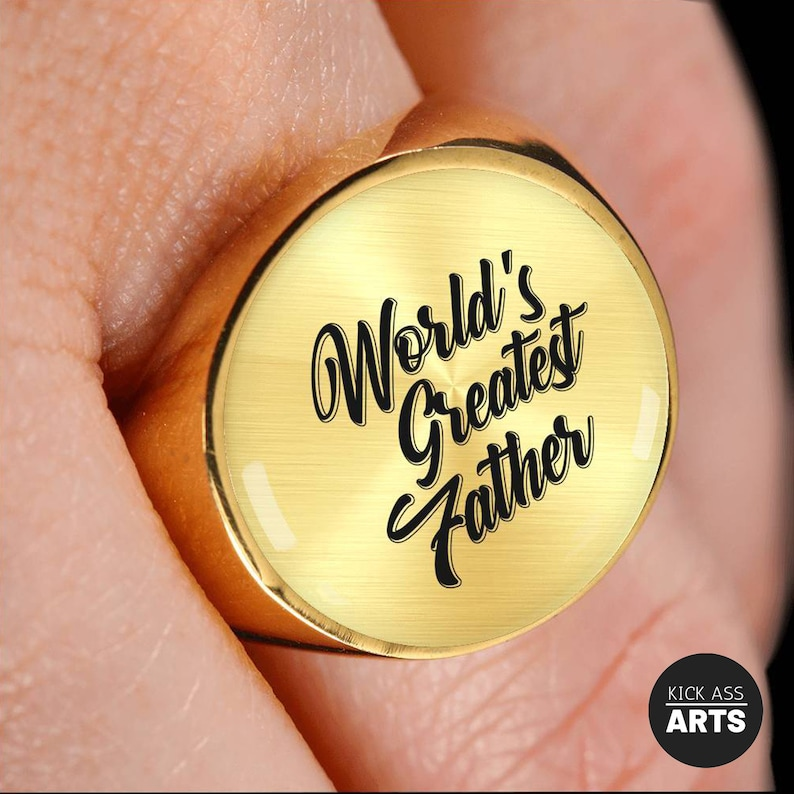 New Dad Gift Husband Gift Mens Ring Anniversary Gifts For Men 1st Fathers Day Gift From Daughter,Wife,Son and Kids