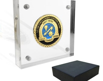 Challenge coin display   Etsy