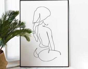Body Outline Print Etsy