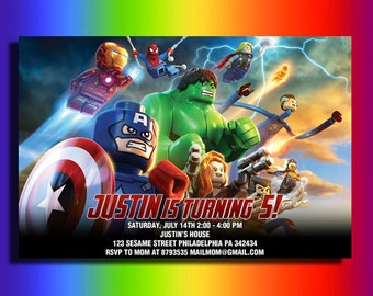 Avengers Invitation Birthday Superhero Party Supplies Card Personalization