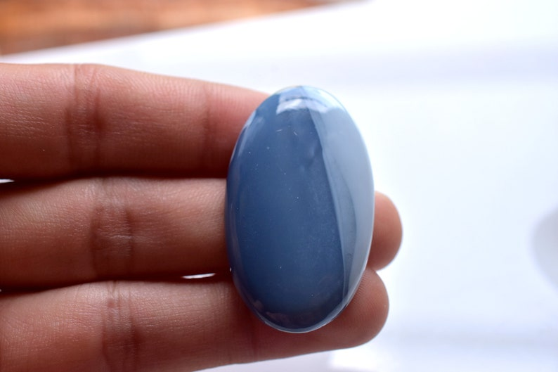 BLUE OPAL GEMSTONE 32CT High Quality Natural Blue Opal Smooth Cabochon Perfect Pendant Size Opal Jewelry Making Loose Gemstone Opal 37x22x5