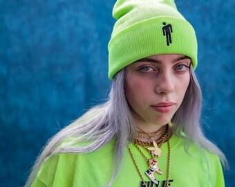 b9ce8ff3e5332 Cute Billie Eilish Cuffed Beanie Billie Eilish