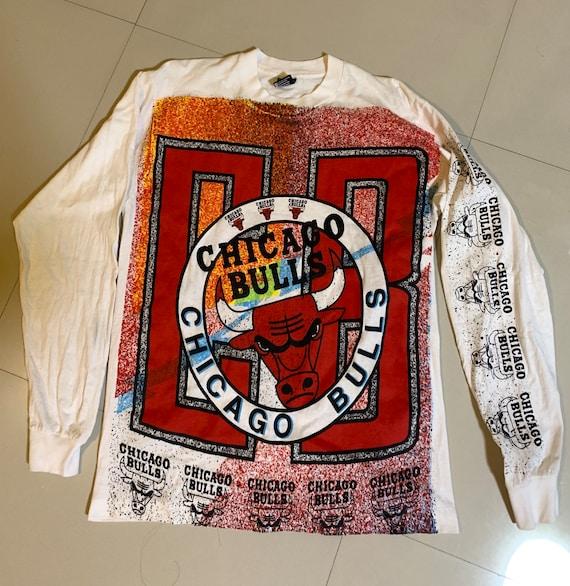 Chicago bulls 90's vintage t shirt long sleeve