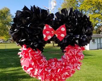 Minnie mouse wreath-Mickey wreath-door decor-Disney wreath-wall decor-Disney decor-Mickey mouse-Minnie mouse-wreath-nursery decor