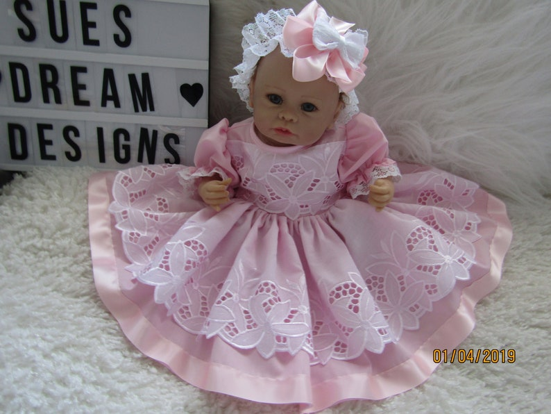 "CLOTHES FOR BAby 3-6mths //REBORN doll 22 /"" all cream//grey two  piece  set  NEW"