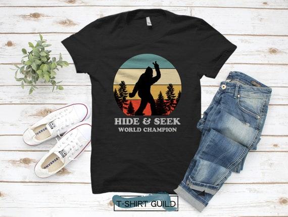 Men Women Classic Denim Jeans Baseball Cap Retro Bigfoot Hide /& Seek World Champion Headwear