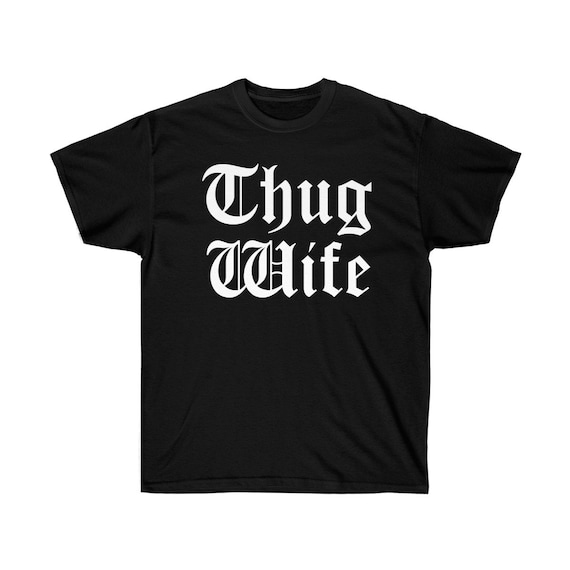 Wifey Gift for Wife Gangster T Shirt Gift For Her Hipster Thug Wife T-Shirt
