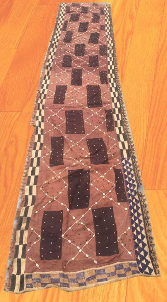 Natural Woven Raffia Handmade Fabric 124 x 52 cm Raffia Textile 2x4 Cheap Price Vintage African Kuba Showa Cloth African Tribal Cloth