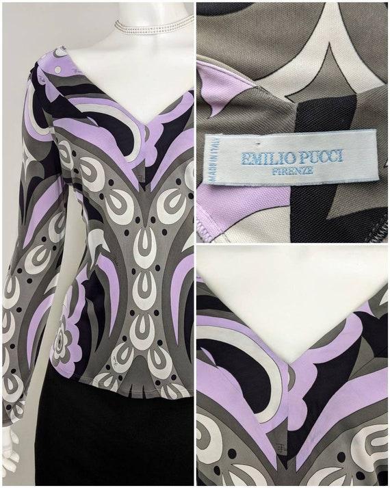 EMILIO PUCCI vintage shirt abstract geometric prin