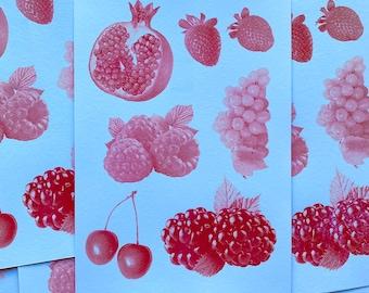 Riso print fruits