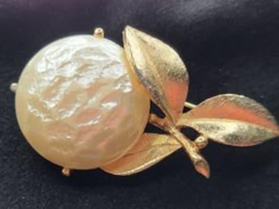 Vintage Pearl Bloom Brooch Sarah Coventry/Vintage… - image 1