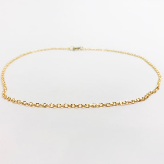 Short Gold Chain Gold Necklace Chain Jewelry Chain Girls Etsy