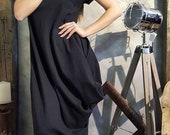 Kaftan Dress Black Dress Amazing Wide Dress Winter Dress Black Dress Party Dress Assymetrical Dress