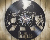 The Beatles Vinyl Record Wall Clock Home Decor Wall Art Anniversary Birthday Christmas Wedding Gift for Him Her Men Women Kids