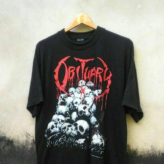 OBITUARY ©1991 Cause of Death/Pile Of Skulls- Orig