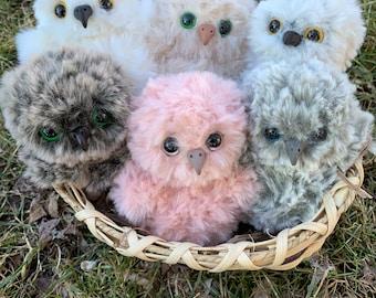Crochet baby owl stuffed animal/plush