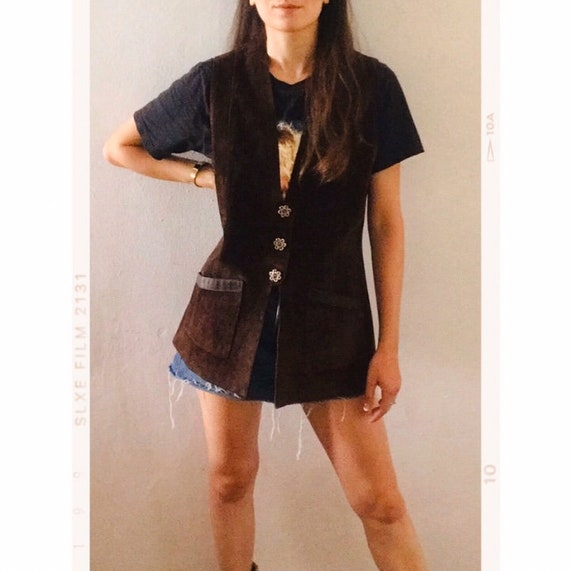 Vintage 70s // Leather // Suede // Vest // UK M/ L