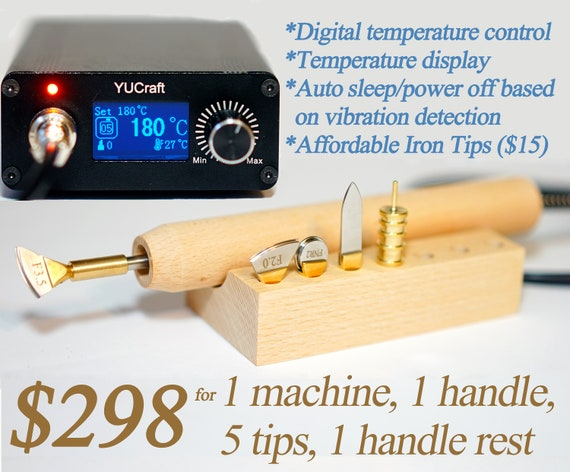 Electric leather edge creasing machine /& tips Accurate temperature control