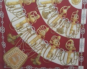 50672973 Hermes Silk Scarf, Vintage Hermes Scarf, Hermes Scarf