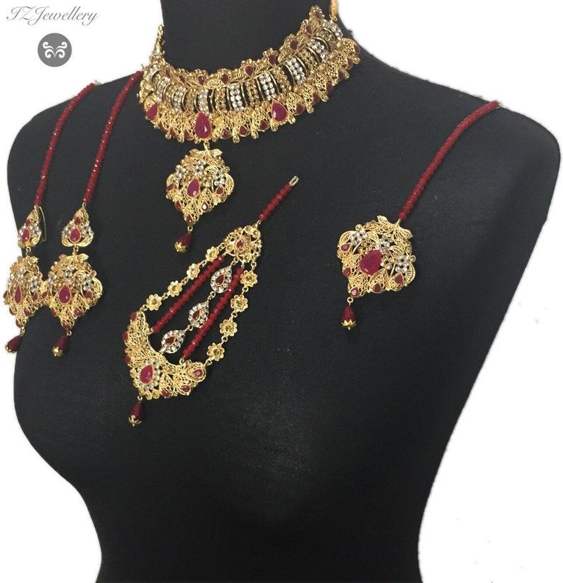 maroon jewelry Pakistani bridal jewelry indian bridal jewelry Pakistani jewelry indian jewelry bridal jewelry Pakistani jewellery