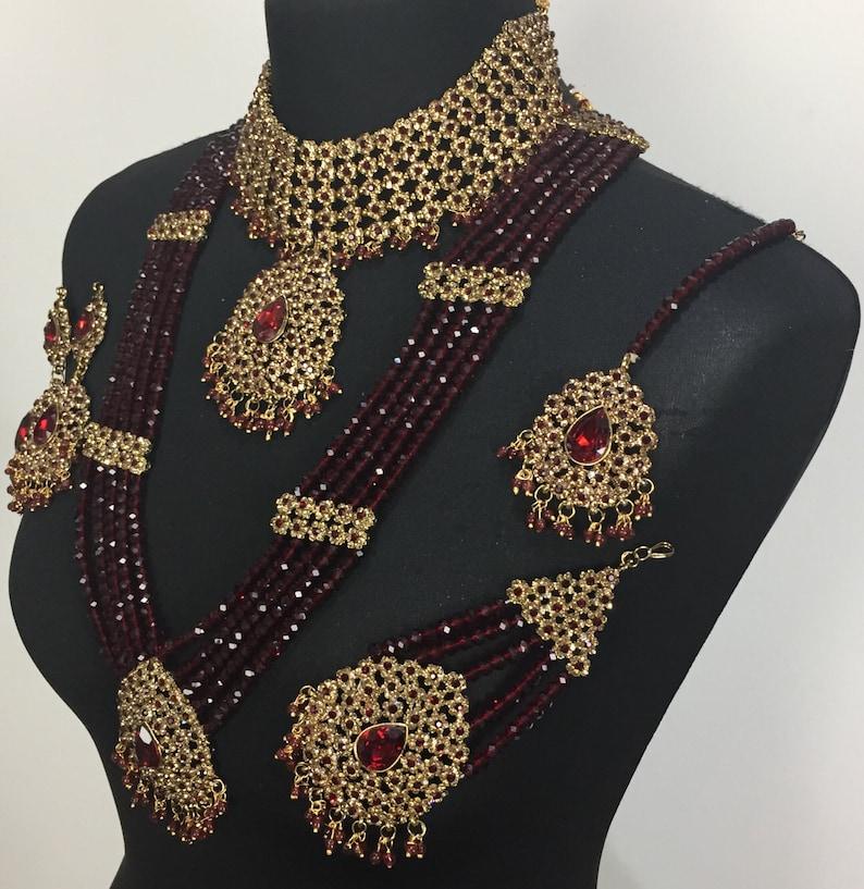 maroon jewelry Pakistani jewelry indian jewelry Pakistani bridal jewelry indian bridal jewelry Pakistani jewellery gold jewelry
