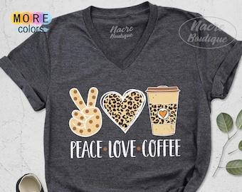 Peace love starbucks bleached sweatshirt peace love coffee